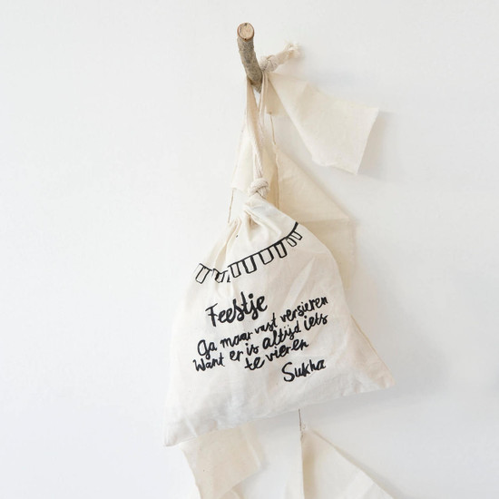 BHOJA FLAGS, Cotton, Off White by Sukha