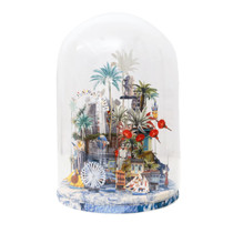 "SINGAPORE GLASS DOME, Large by Charlotte Chab ""THE MAP"""