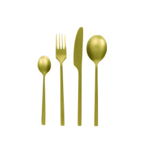 SET OF 24 CUTLERY, SERENITY, Brushed Gold