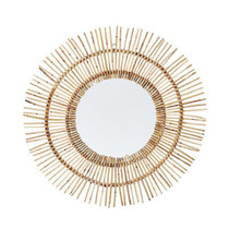 MIRROR, Sun, Natural Rattan, 80cm