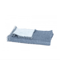 BEDSPREAD / SOFA THROW, Baya, Petrol/Sky