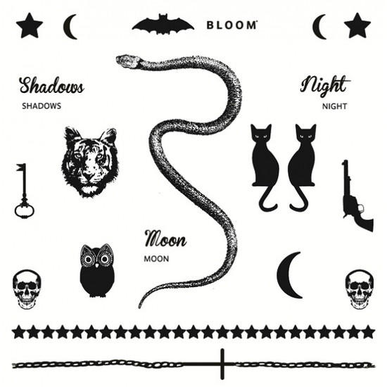 "Temporary Tattoos by BLOOM, ""Moon"""