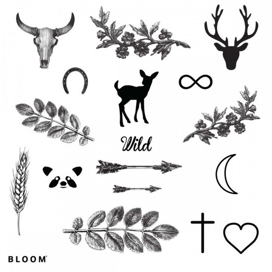 Temporary Tattoos WILD, by BLOOM