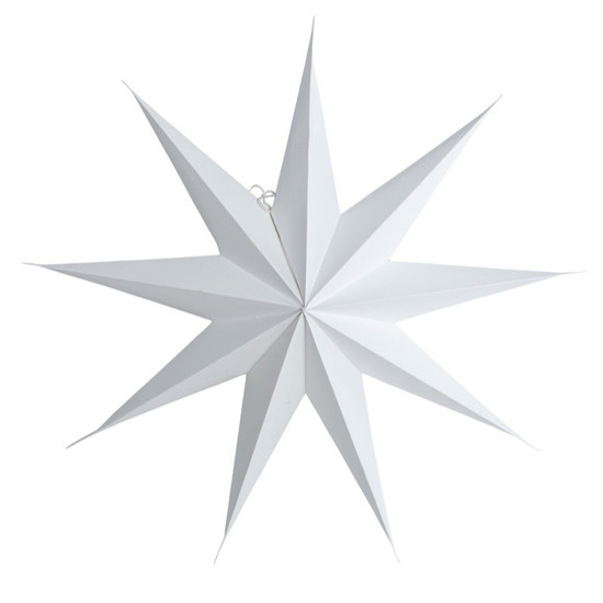 STAR, Paper, 9 points, White, 87cm, by HOUSE DOCTOR