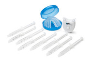 Deluxe kit includes 8 syringes, thermoforming mouth trays, tray case and single LED accelerator light