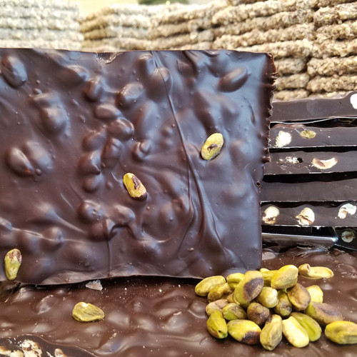 Extra Dark Roasted Pistachio Bark