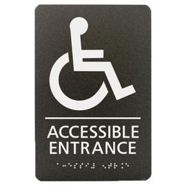 "Accessible Entrance - 8¾"" x 5¾"""
