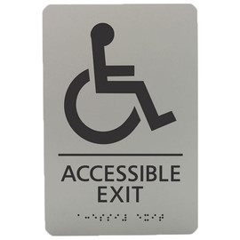"Accessible Exit - 8¾"" x 5¾"""