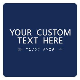 "ADA Custom Text Sign - 7¾"" x 7¾"""