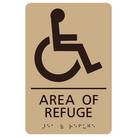 "Area of Refuge - 8¾"" x 5¾"""