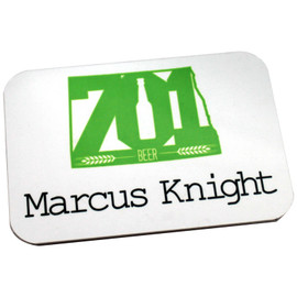 "Brushed Metal Name Badge - 2"" x 3"""
