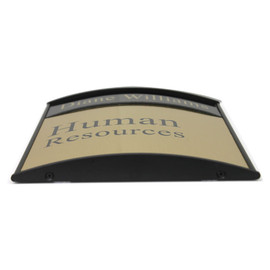 """Curved Office Sign - 8½"""" x 8"""""""