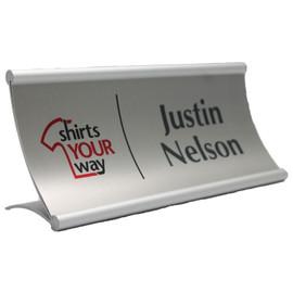 """Modern Curved Desk Sign - 3¼"""" x 8"""""""