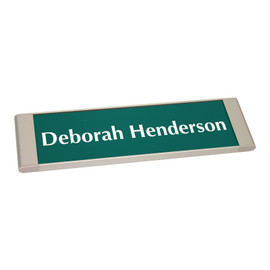 "Sleek Modern Office Wall Sign - 2½"" x 10"""