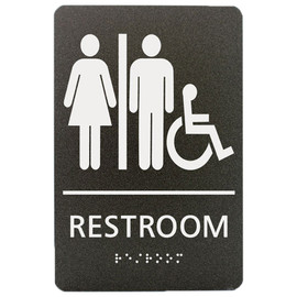 """Unisex Accessible Restroom - 8¾"""" x 5¾"""""""