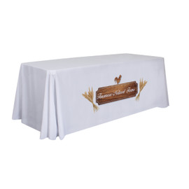 Sublimation Table Cover Fabric Color: White only Imprint Location: Front only