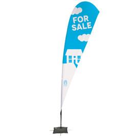 15' Streamline Teardrop Sail Sign Kit – Single-Sided with Scissor Base