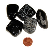 Snowflake Obsidian - tumbled - extra extra large