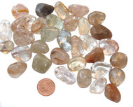 Rutilated Quartz - tumbled - small