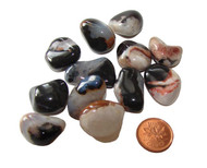 Tumbled Black Sardonyx Stones - Small