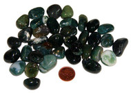 Tumbled Moss Agate Stones - Small