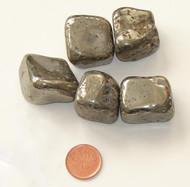 Tumbled Pyrite Stone - Huge