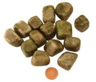 Tumbled Vesuvianite stones - size extra large
