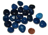 Blue Onyx Tumbled Stones - Small
