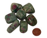 Tumbled Ruby Fuchsite stones - size large