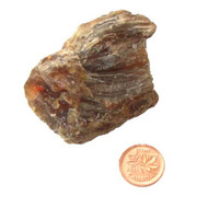 Rough Black Amber Stone - Specimen D