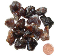 Tumbled Fire Agate Stones - 6 grams