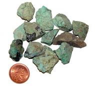 Rough Chrysocolla Stones - teeny