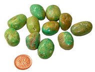 Tumbled Natural Green Turquoise Crystal - 5 grams