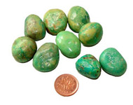 Tumbled Green Natural Turquoise - 7 grams