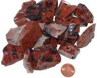 Rough Mahogany Obsidian Stones - size medium