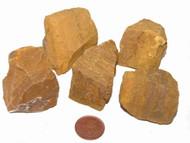 Rough Yellow Jasper stones - size large