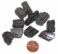 Black Tourmaline crystal rods - small