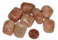 Tumbled Sunstone stones - size large