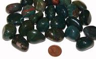 Bloodstone tumbled stones - size medium
