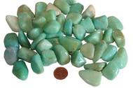 Tumbled Natural Amazonite Stones - size medium