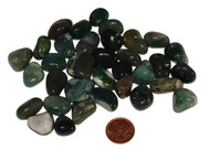 Tumbled Green Moss Agate Stones - extra small