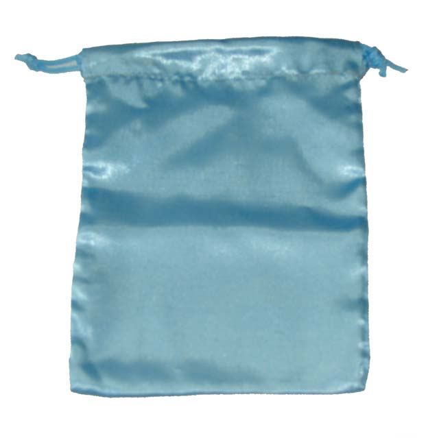These large blue satin pouches are great for holding crystals, tarot cards and other treasures - Free shipping over $60.
