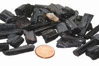Black Tourmaline Crystal Rods - teeny