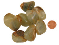 Green Onyx Tumbled Stone - Large