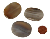 Banded Agate Worry Stone for Anxiety
