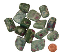 Tumbled Ruby Fuchsite Stone - medium