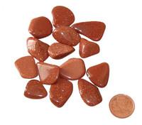 Red Goldstone Crystal - teeny