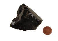 Black Obsidian Crystals - Specimen E