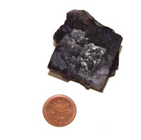 Muzquiz Purple Fluorite Cluster - Specimen G - Image 2