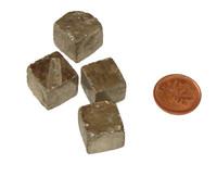 Natural Pyrite Cubes - Medium